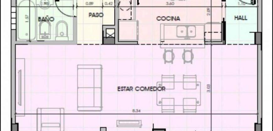 EXCELENTE SEMIPISO DE 2 AMBIENTES – TORRE DEL ESTE II